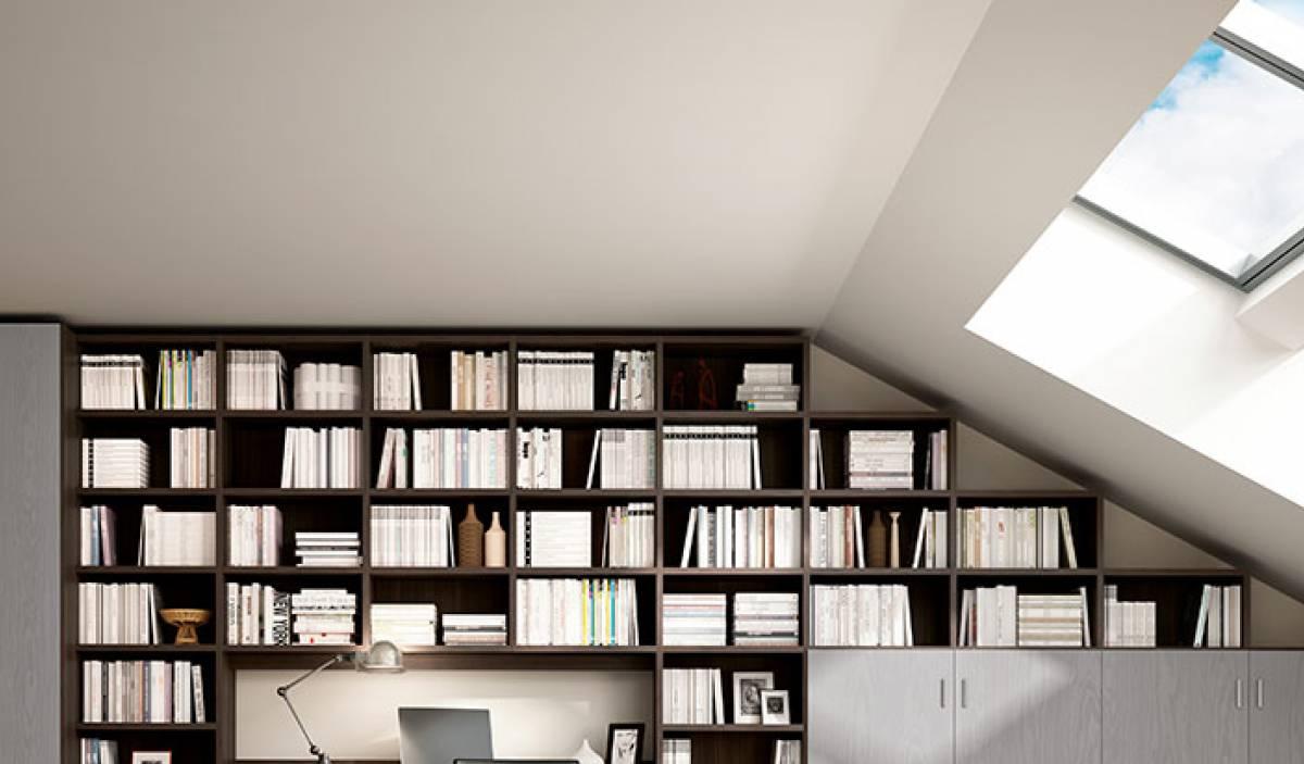 Librerie su misura zona giorno ferri mobili arredamenti for Ferri arredamenti
